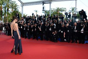 Milla Jovovich in Prada at Cannes 2013