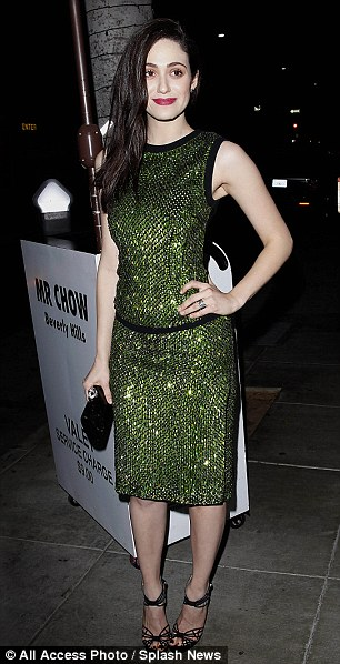 Emmy Rossum in Antonio Berardi Resort 2014