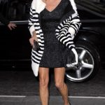 Kate Moss in Marc Jacobs Resort 2014 (striped sweater)