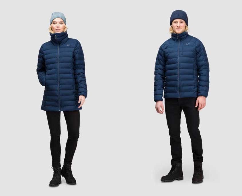 Women's and Men's Norrona Oslo Lightweight Down850 Jacket