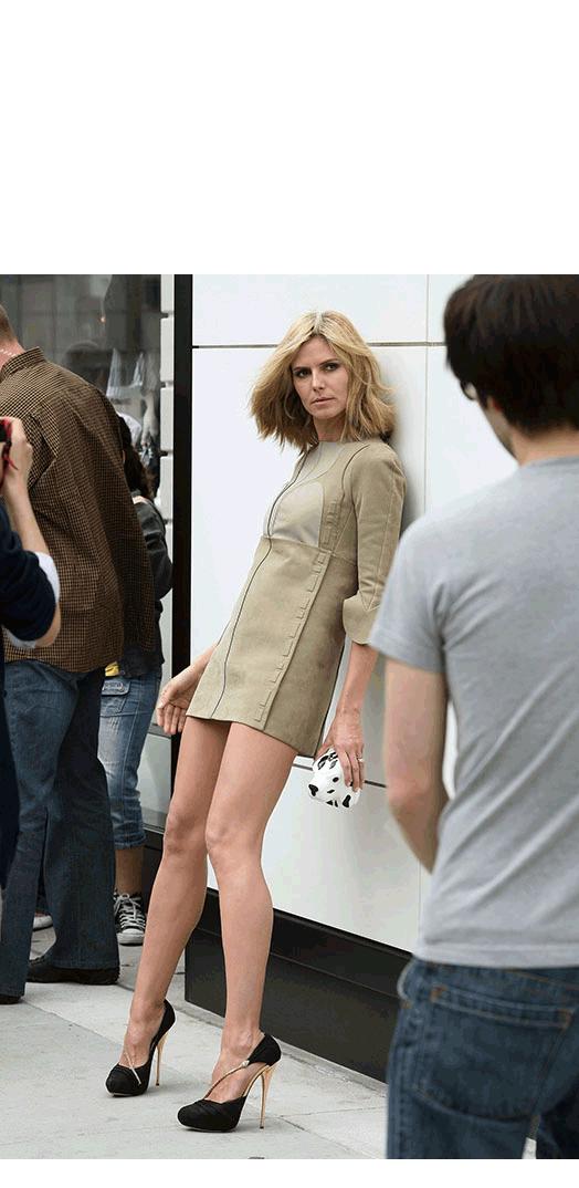 Heidi Klum photo shoot model