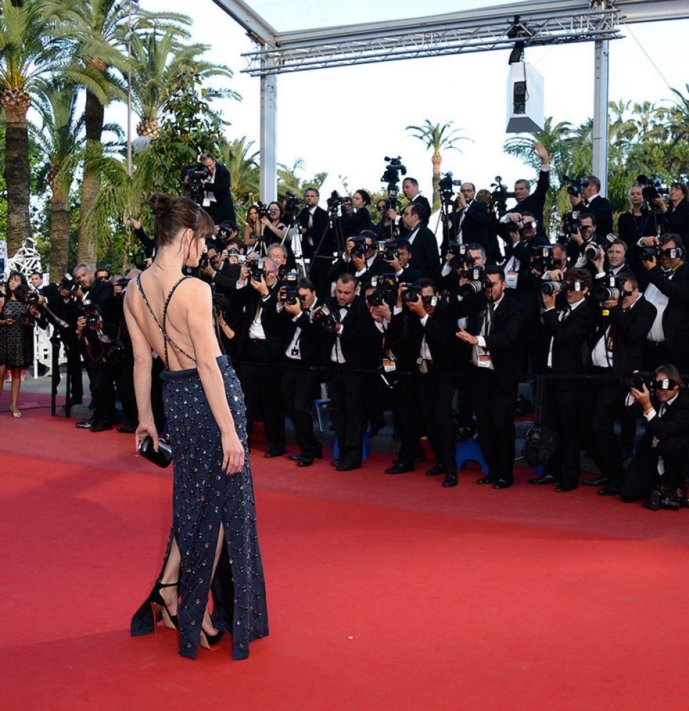 Milla Jovovich in Prada Cannes Film Festival