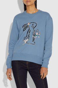 Selena Bunny Sweatshirt from the Coach X Selena Gomez Fashion Collection