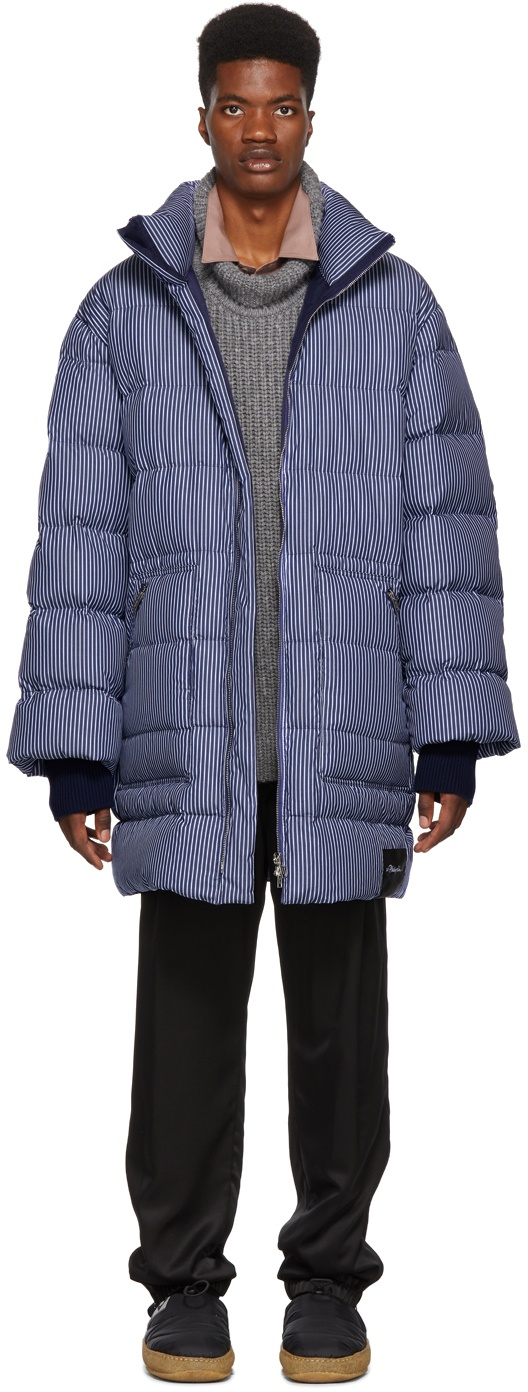 Striped Oversized Down Coat by 3.1 Phillip Lim. Long Puffer Coat. Puffer Jacket.
