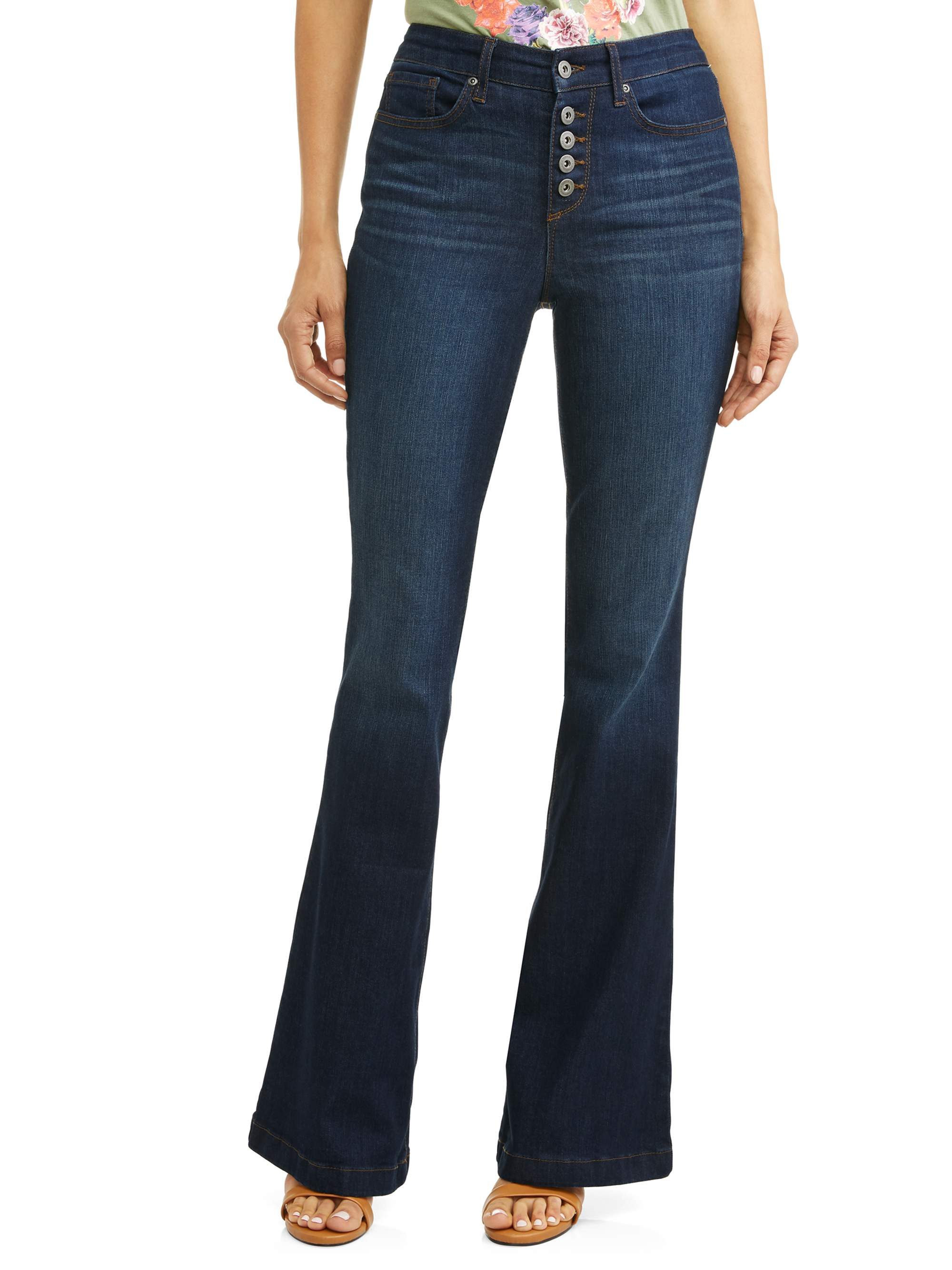 Sofía Jeans by Sofía Vergara, Melisa High Waist Stretch Flare Jean Women's (Dark Indigo Wash)
