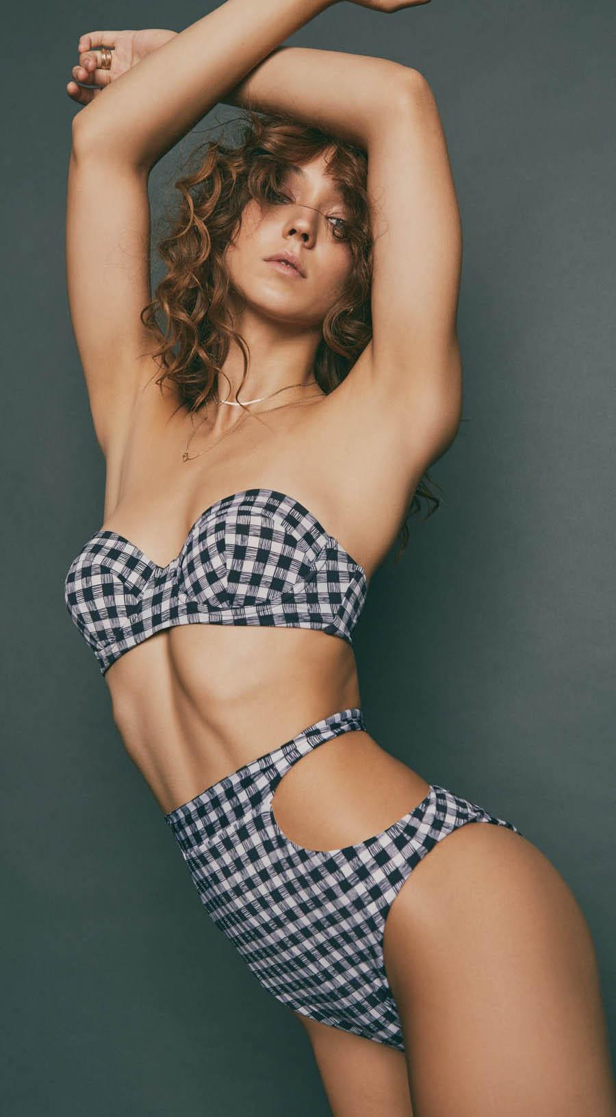 Audrina Patridge, Prey Swim Resort Wear Swimsuit Line, Celebrity Clothing Brand, Miaou Bustier Top, Bardot Bottoms