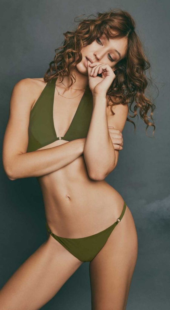 Audrina Patridge, Prey Swim Resort Wear Swimsuit Line, Celebrity Clothing Brand, Grace Triangle Top, Lou Lou Bottoms