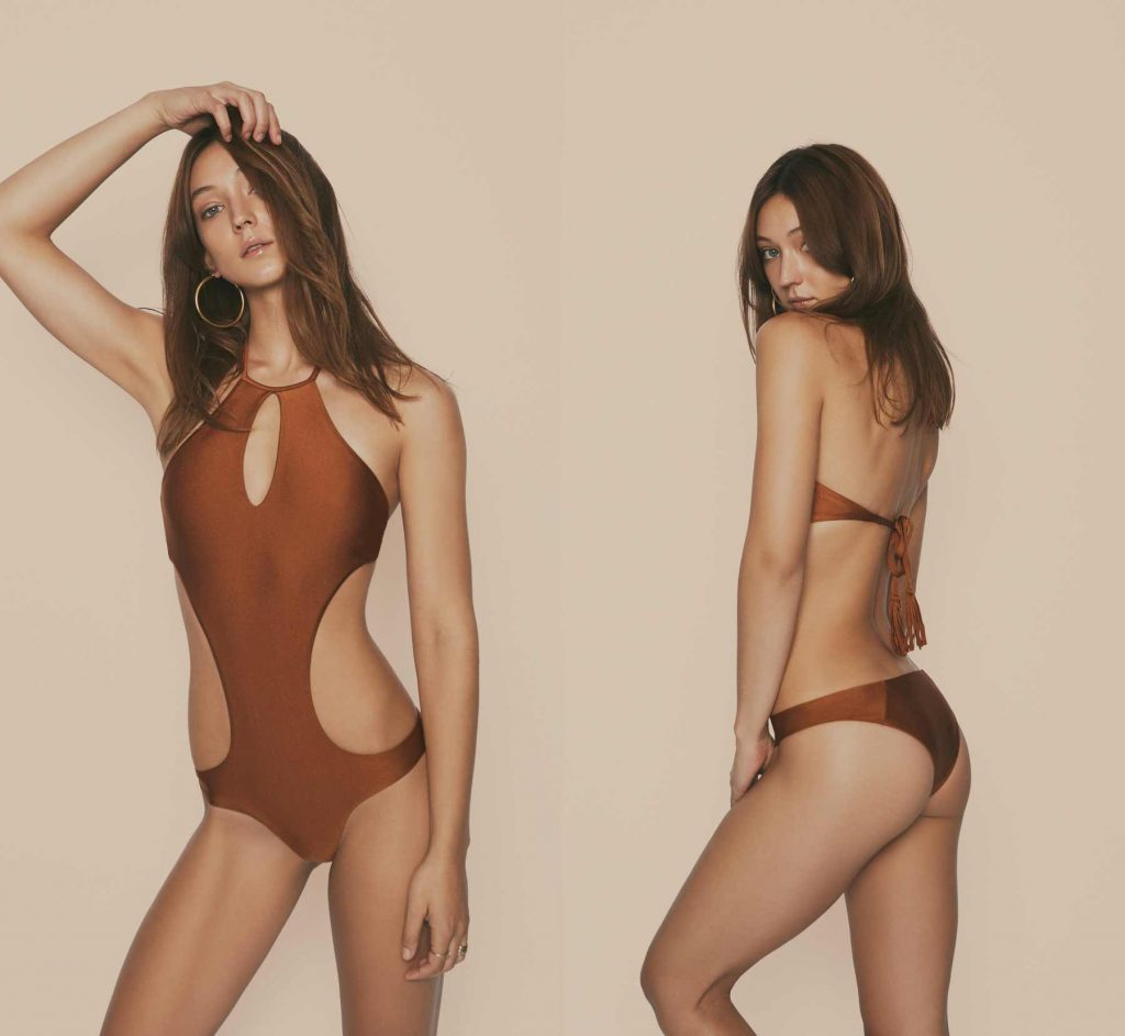 Audrina Patridge, Prey Swim Resort Wear Swimsuit Line, St. Tropez Reversible One-Piece Swimsuit