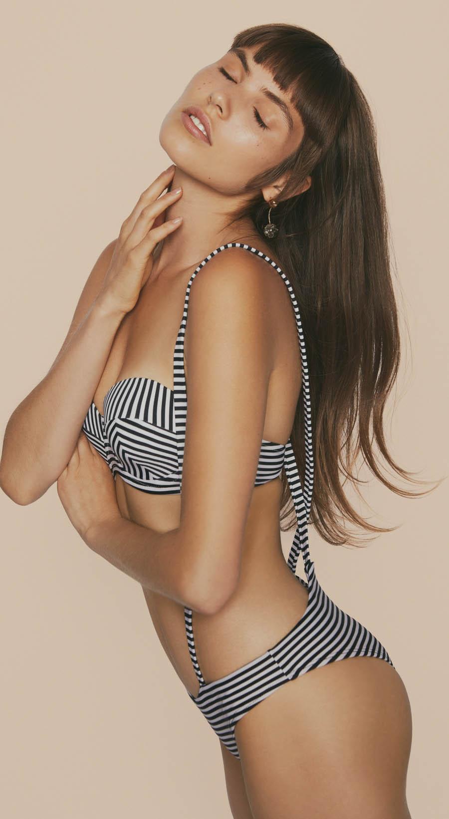 Audrina Patridge, Prey Swim Resort Wear Swimsuit Line, Celebrity Clothing Brand, Miaou Bustier Top, Duck Dive Bottoms