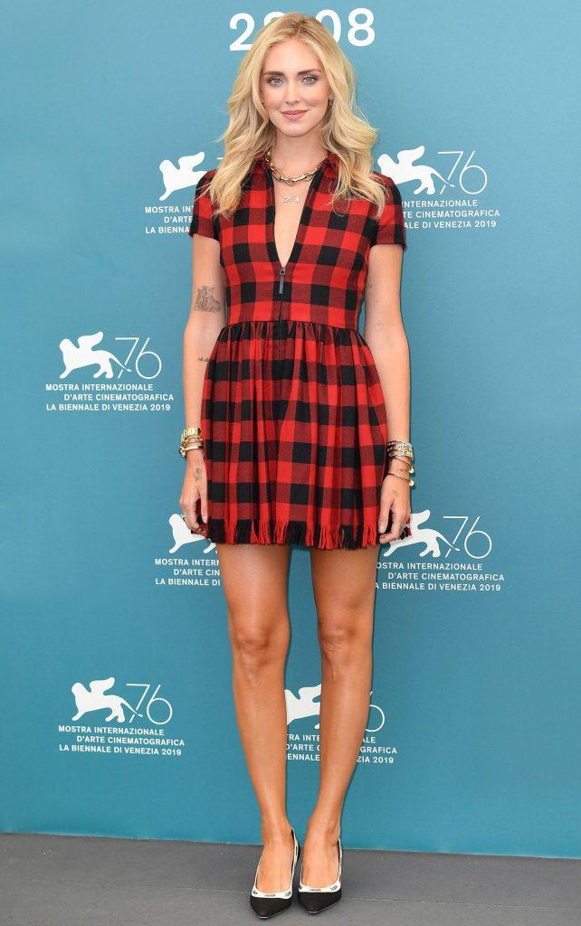 Celebrity Fashion, Fall Check PatternTrend, dress, Chiara Ferragni