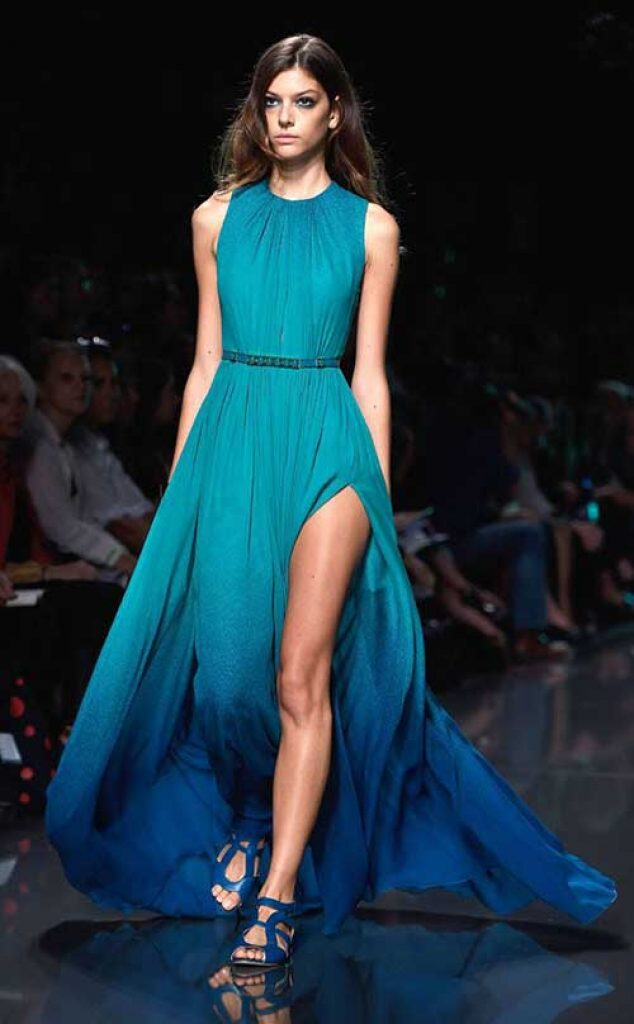 Elie Saab Ombre´ Dress Spring 2015 Ready-to-Wear, ombre dress, degrade clothing, dégradé clothing