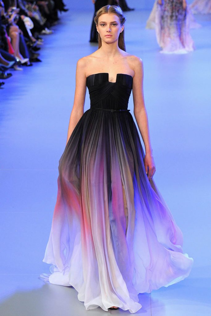 Elie Saab Ombre´ Gown Spring 2014 Couture, ombre dress, degrade clothing, dégradé clothing