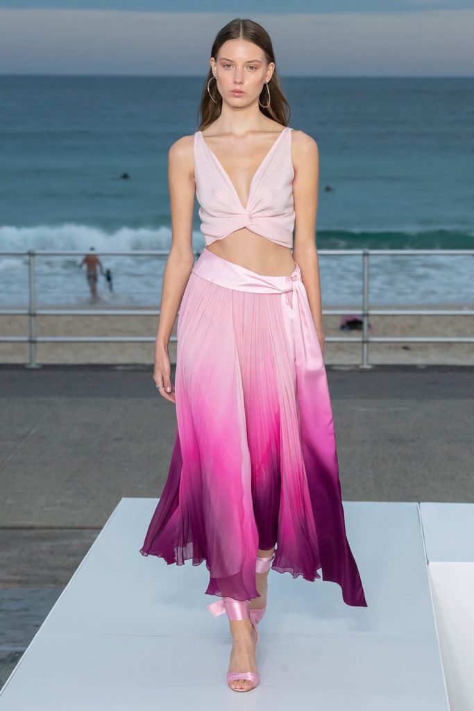 Jonathan Simkhai Australia Resort 2020, ombre skirt, degrade clothing, dégradé clothing