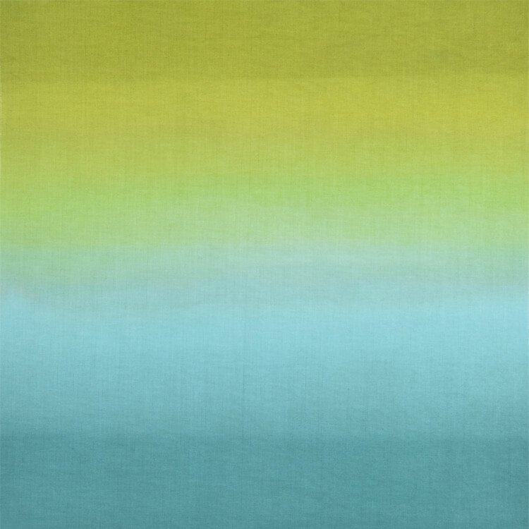 ombre´ dip-dyed fabric, ombre cloth, yellow, blue