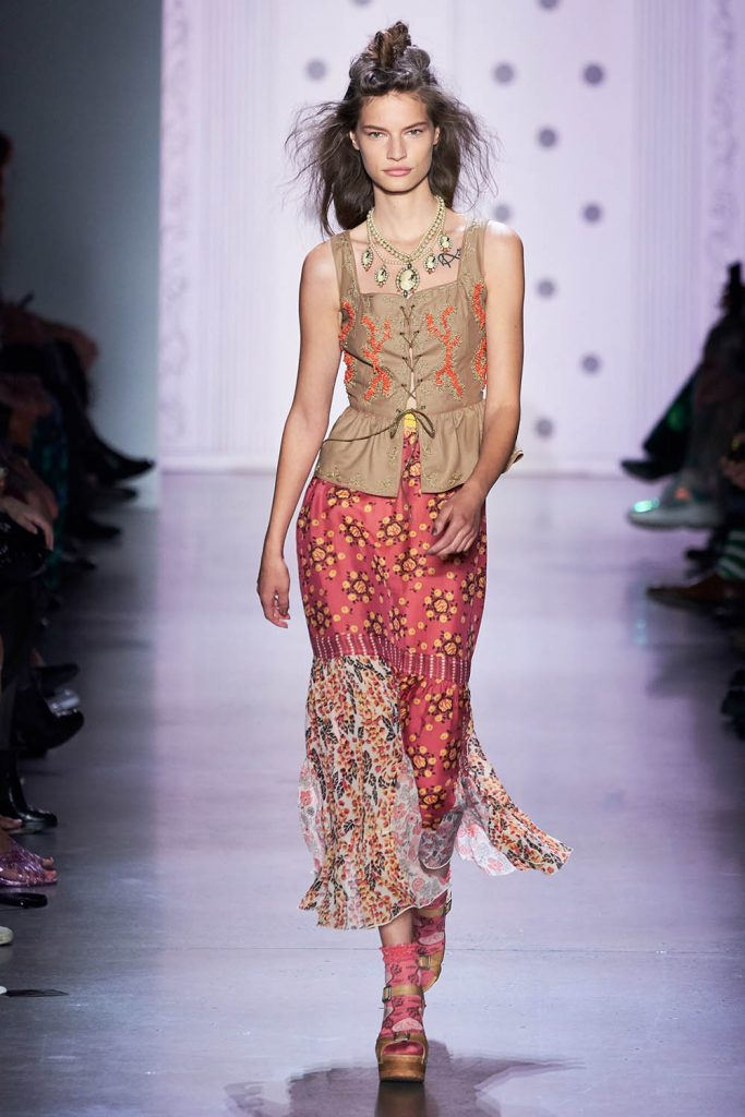 nyfw trends, mixing patterns fashion,