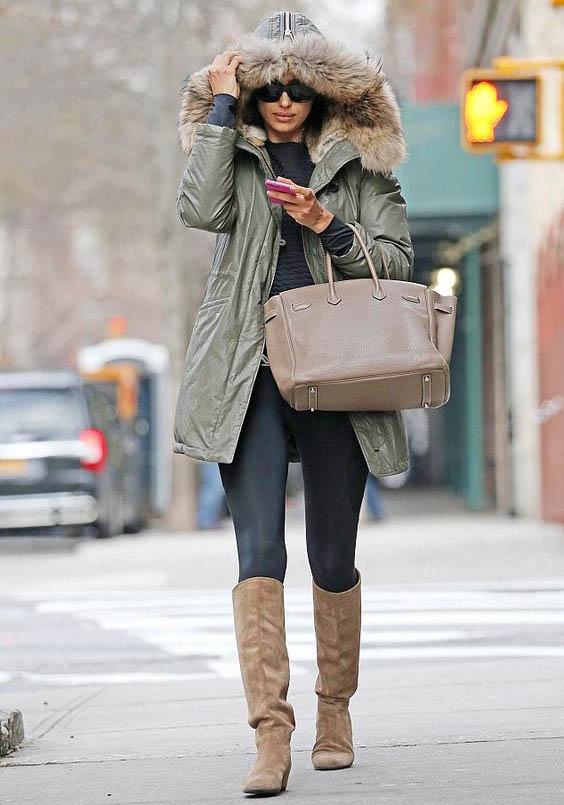 lauren ralph lauren faux fur trim puffer coat, puffer coats, puffer jackets, down jackets, down coats, winter coats, winter outfits, winter style, celebrity fashion