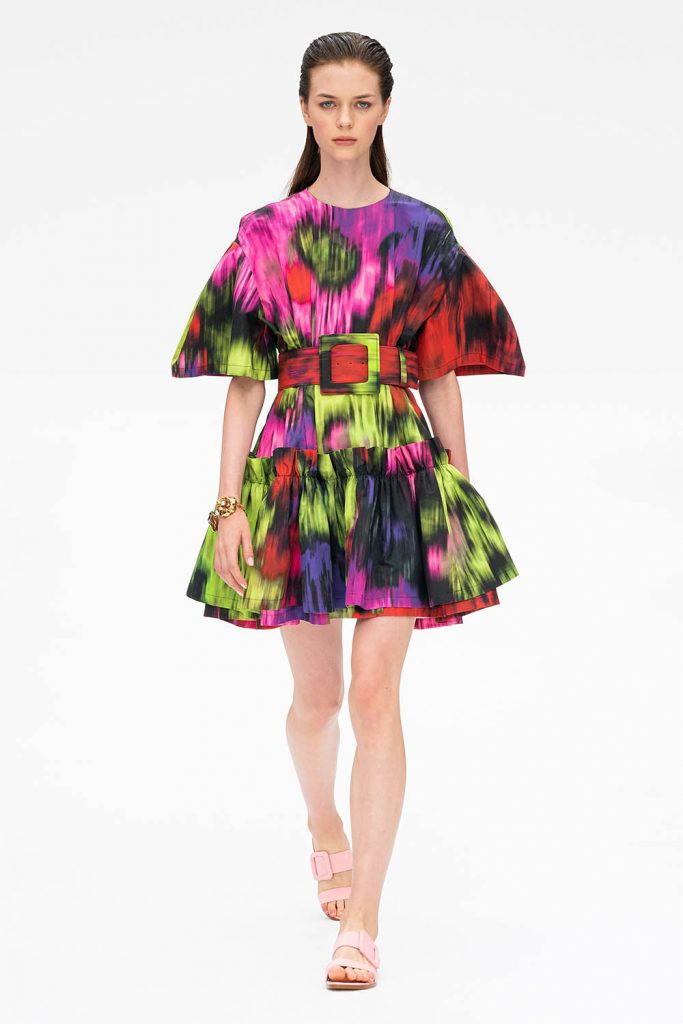spring 2020 trends, nyfw trends, floral print trend, floral print dress