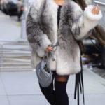 ariana grande winter coat, Grande fur coat, ariana grande faux fur coat, faux fur coat, celebrity winter coats and jackets, Ariana Grande, Givenchy Faux Fur Coat