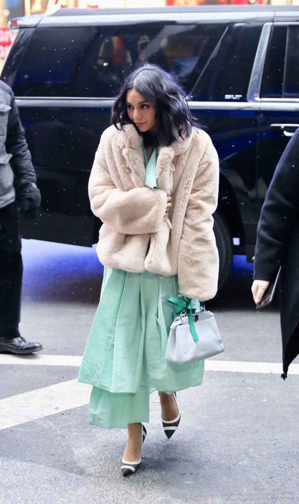 Teddy jacket, Celebrity Winter Coats, Golden Goose Deluxe Brand Shedir teddy jacket worn by Vanessa Hudgens