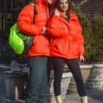 Emily Ratajkowski and her husband Sebastian Bear-McClard. Ienki Ienki Michlin Puffer Jacket. Celebrities wearing winter coats