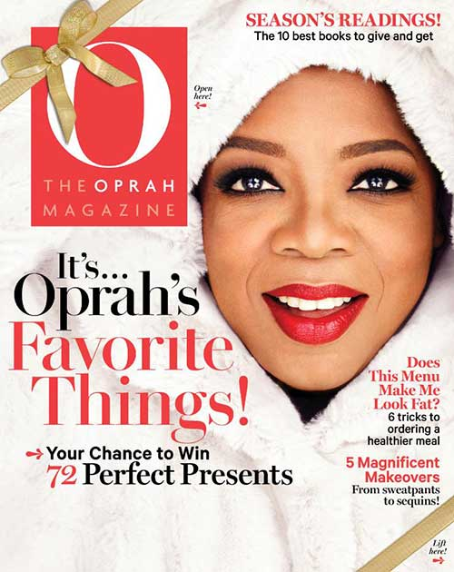 oprah favorite things list, o magazine, o magazine december 2014, oprah's favorite things 2014, oprah winfrey, favorite things, faux fur coat, oprah's favorite things, donna salyer, fabulous furs, faux fur jacket, celebrity winter coats, ariana grande winter coat, ariana grande fur coat