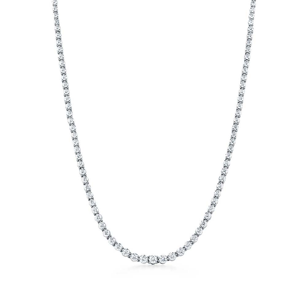 diamond tennis necklace, Tiffany diamond necklace