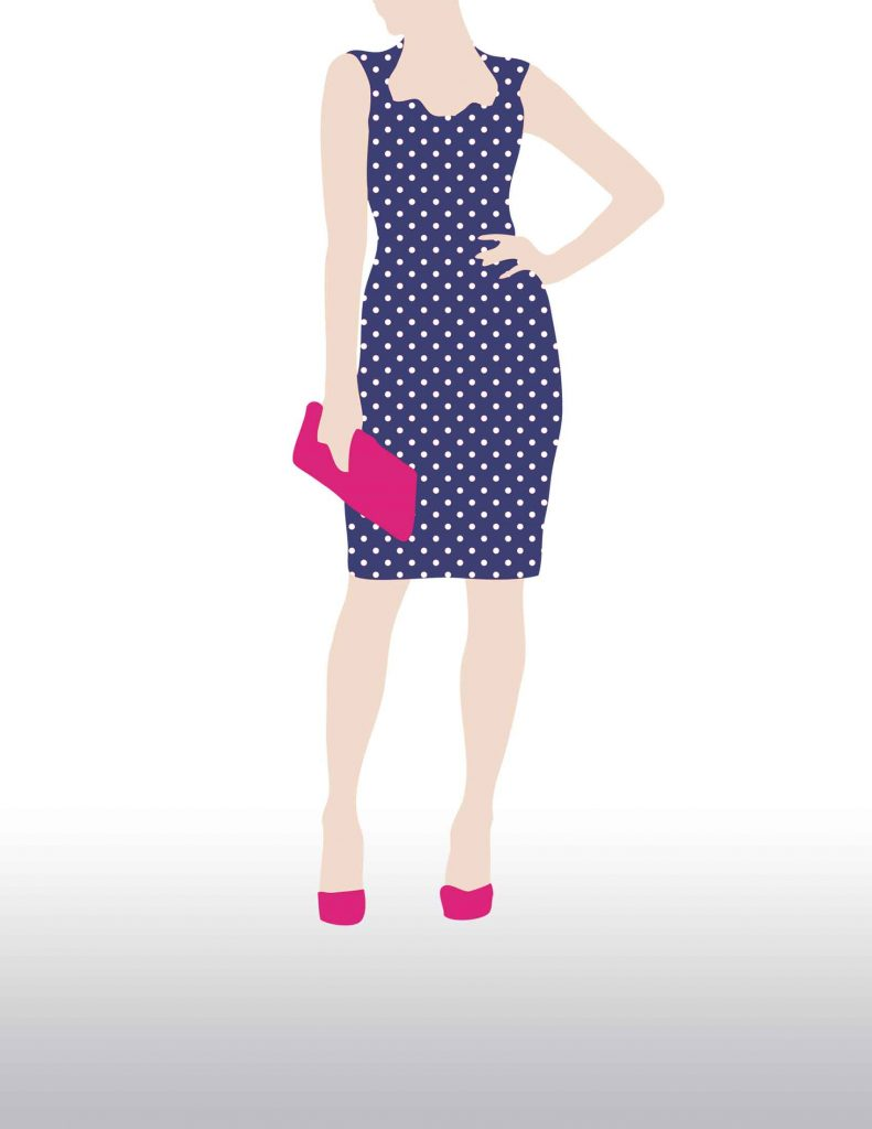 Polka Dot Dress, Colorful Shoes