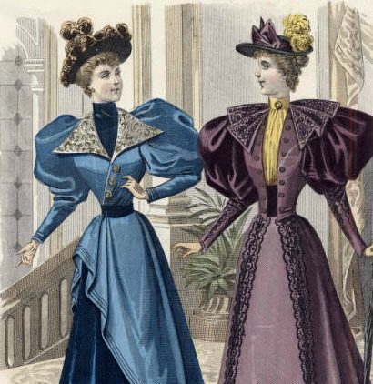 NYFW trends, puffy sleeves, 1894 dress