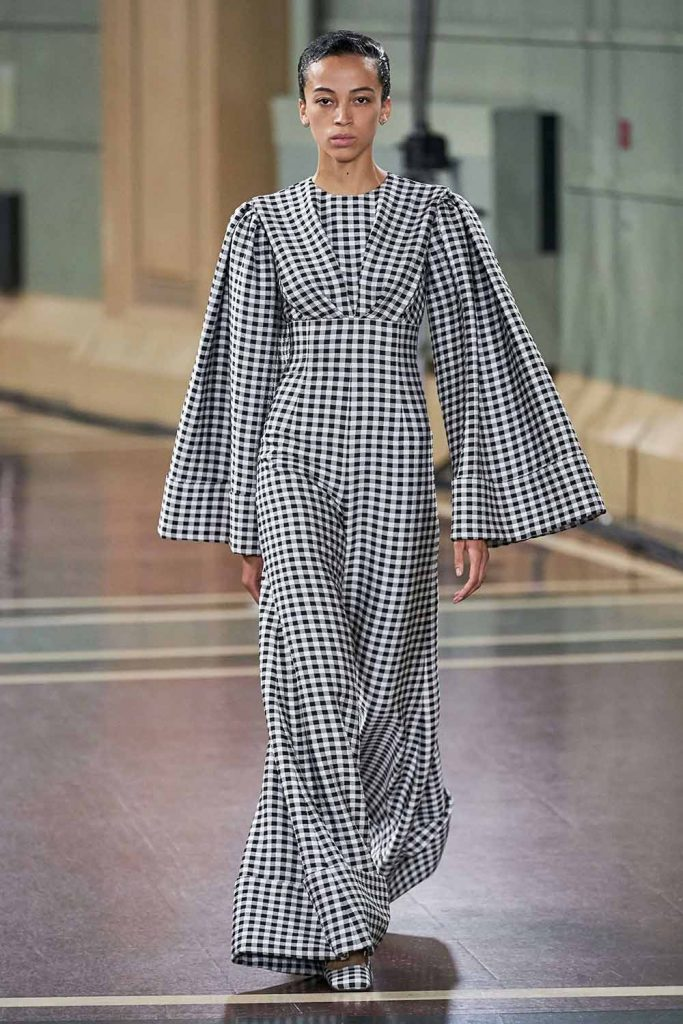 Gingham Jumpsuit, Emilia Wickstead, spring summer 2020