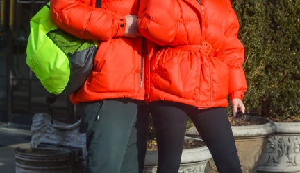 Celebrity Winter Coats:  Puffer Jackets